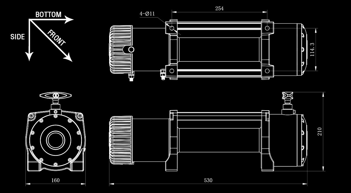 Electric Recovery Winch 12v 13500lb Heavy Duty Steel Cable 4x4 Lbs Wiring Diagram As Well Solenoid Switch Schematic Drawing